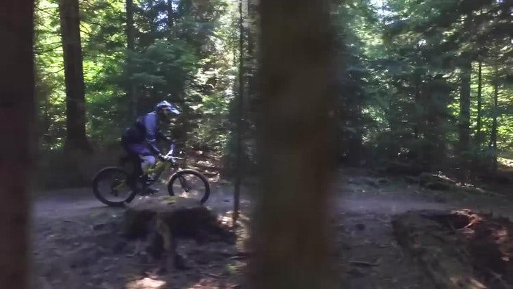 Mountain Biker: Stock Video