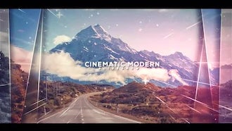 Cinematic Modern Slideshow: After Effects Templates