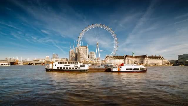 Time-lapse Of River Thames: Stock Video