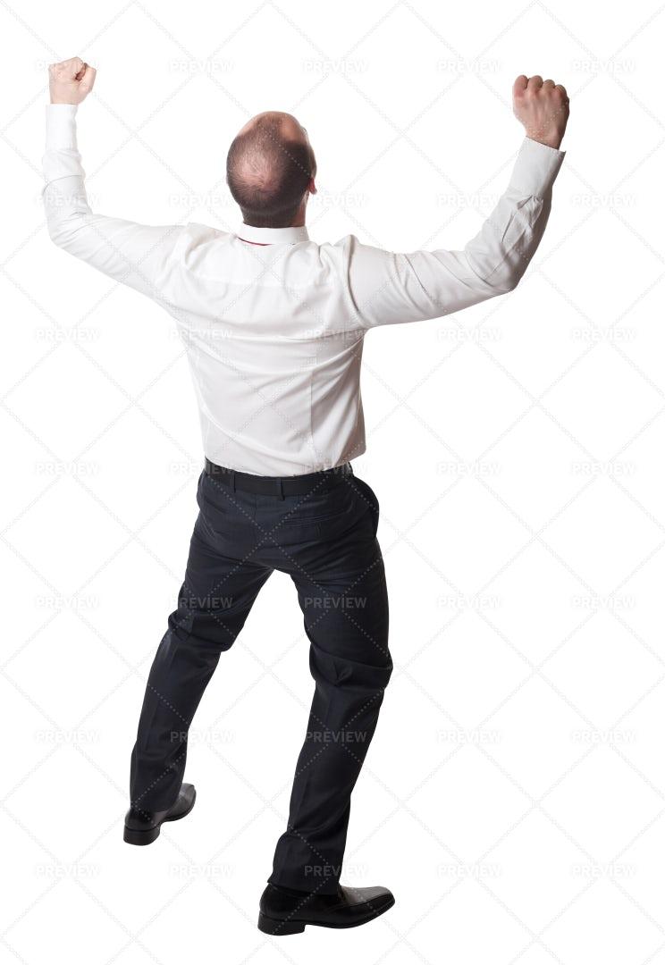 Happy Man On White: Stock Photos