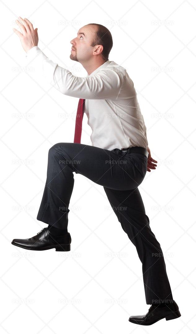 Man In Climbing Position: Stock Photos