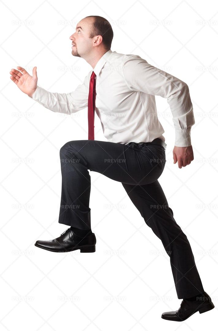 Businessman Climbing: Stock Photos