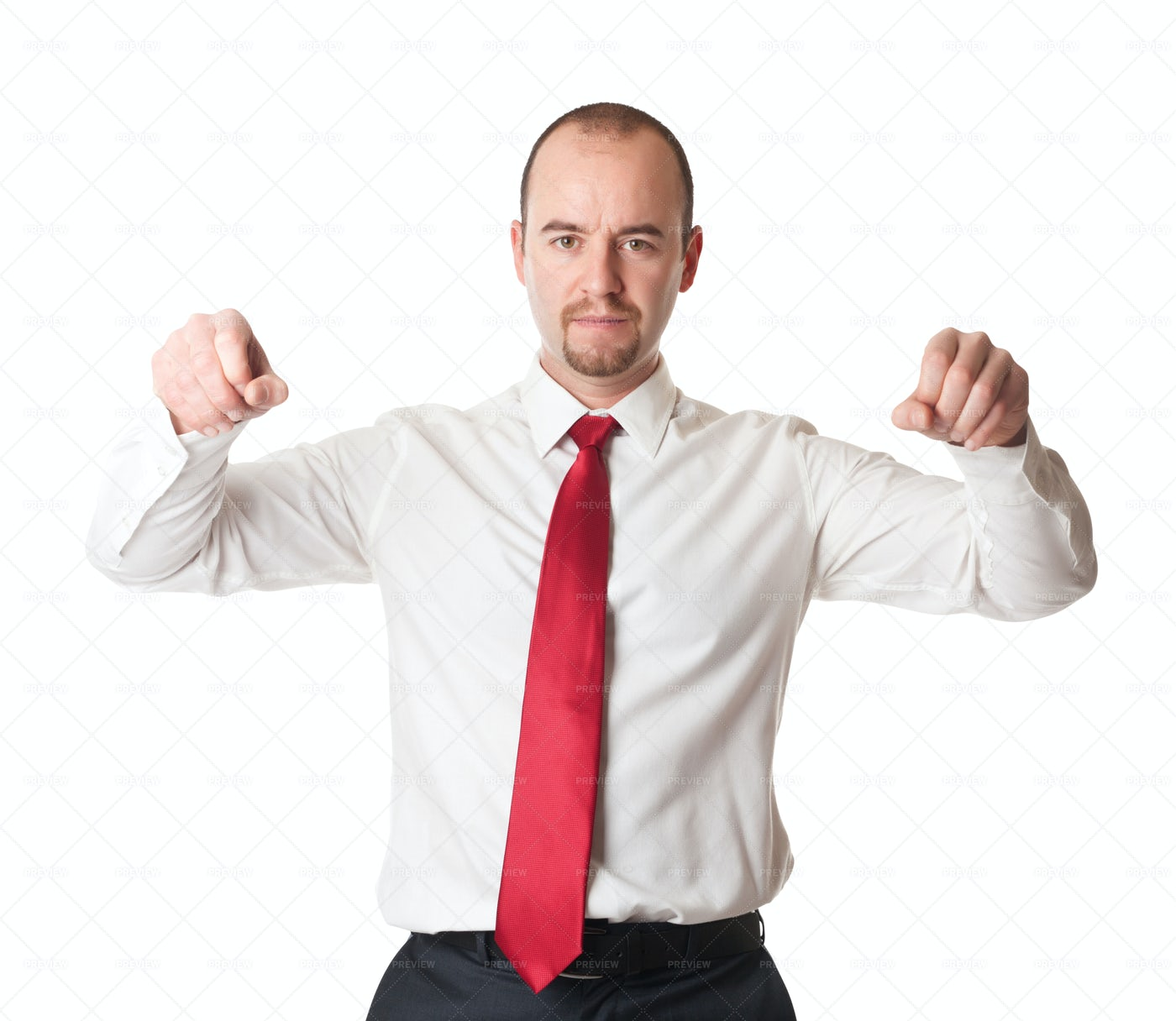 Man In Holding Position: Stock Photos