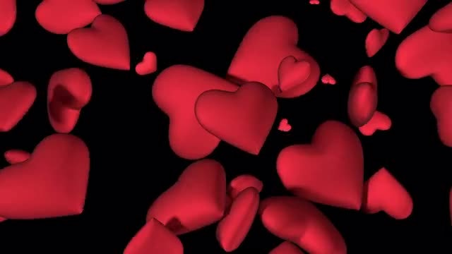 Falling Hearts: Stock Motion Graphics