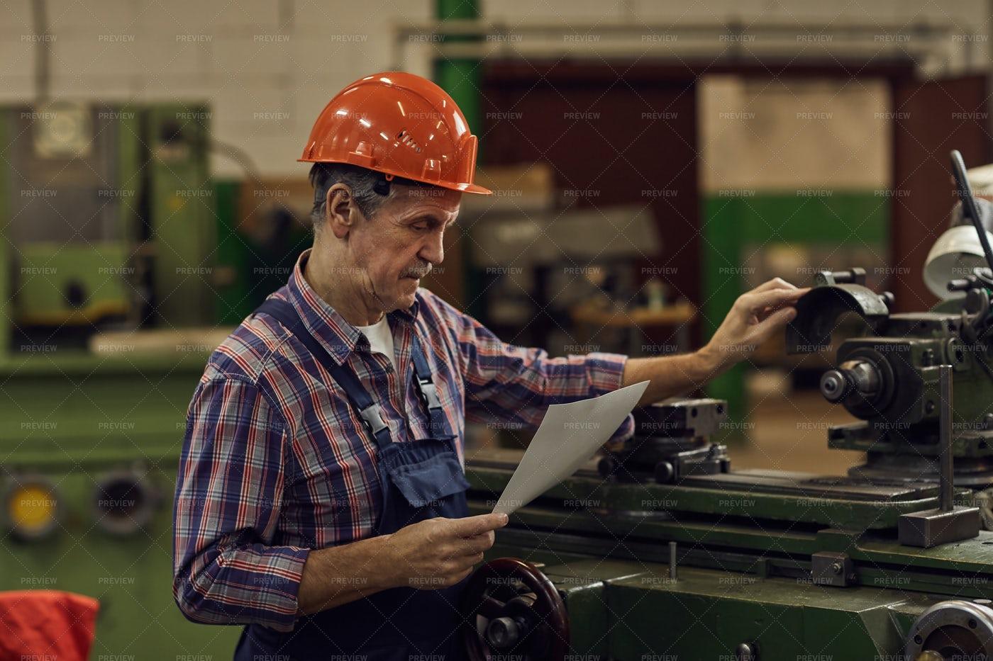Engineer Reading Instruction: Stock Photos