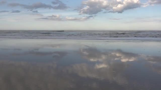 Reflection Of Sky In Water: Stock Video