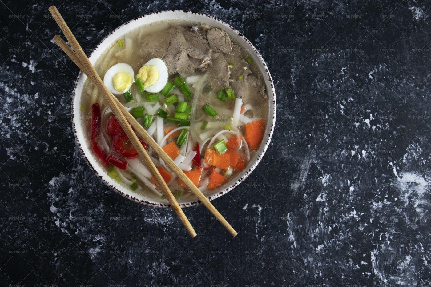 Spicy Noodle Soup: Stock Photos