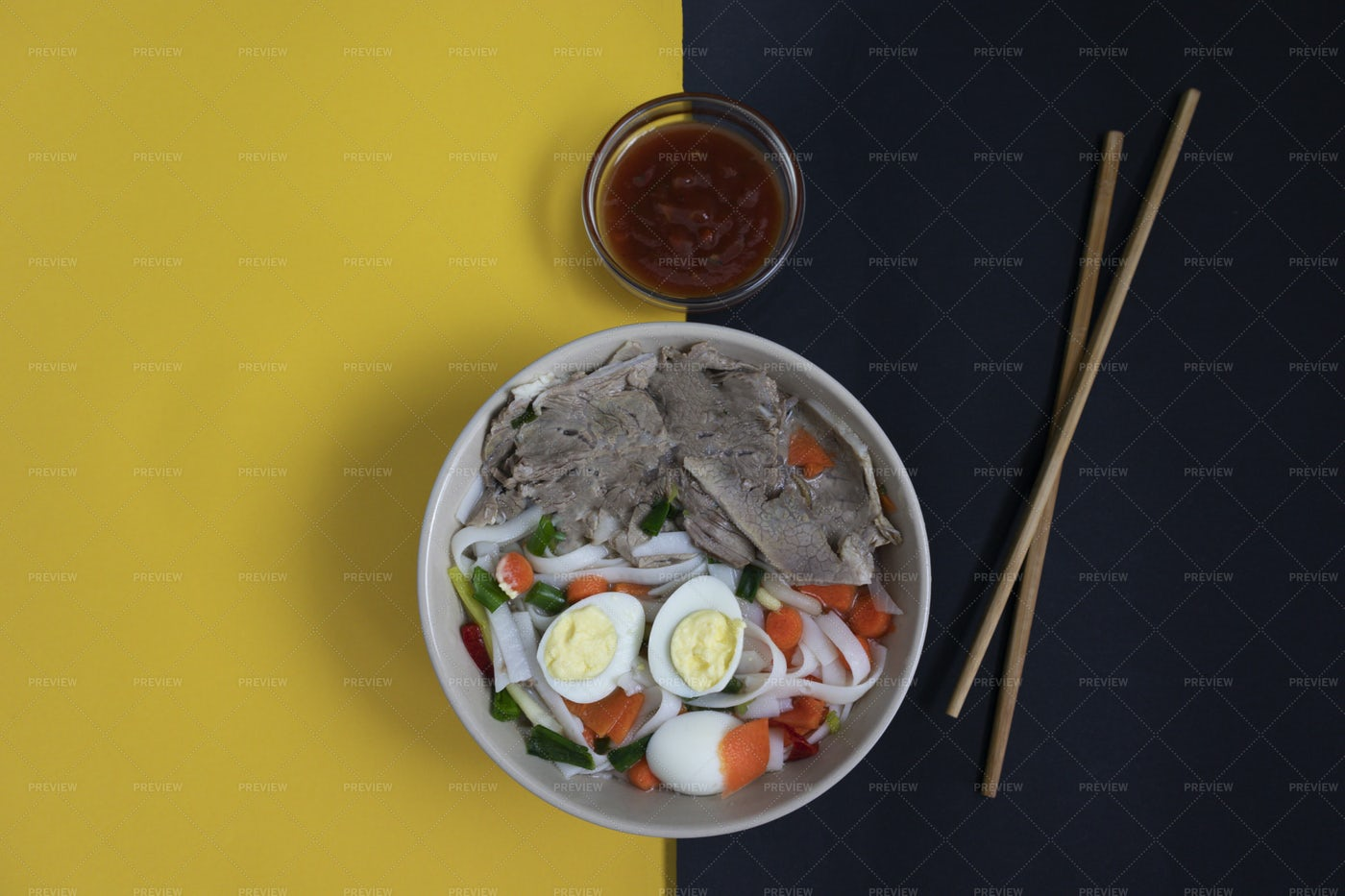 Spicy Pho Bo Soup: Stock Photos