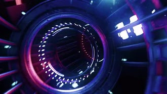 Neon Digital Tunnel: Motion Graphics