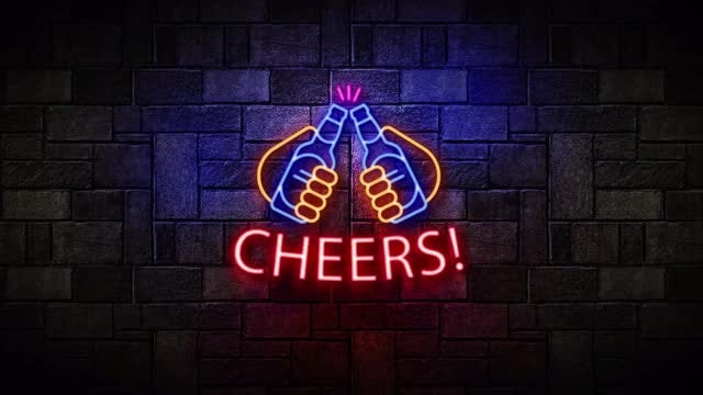 Neon Nights Cheers: After Effects Templates
