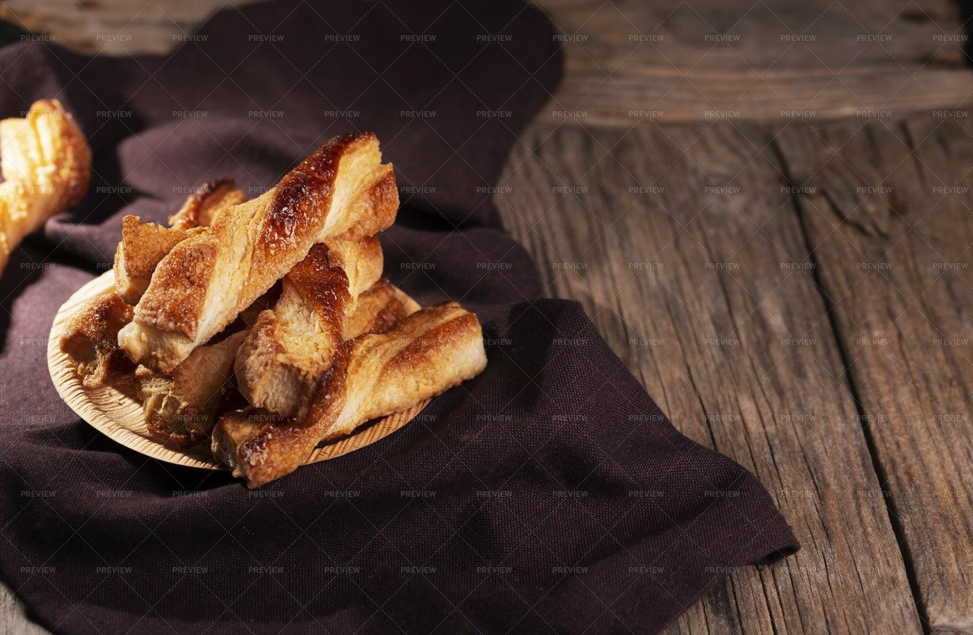 Spanish Shortcrust Pastry Background: Stock Photos