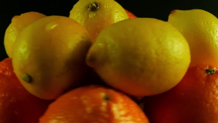 Citrus Fruits Rotating On Display: Stock Video