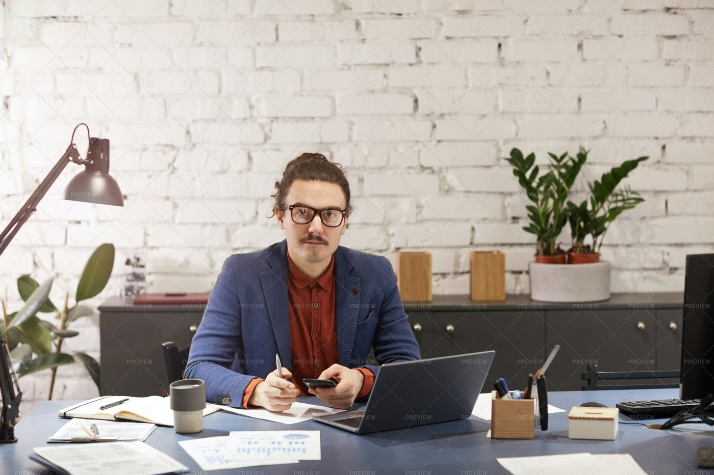 Working At Office: Stock Photos
