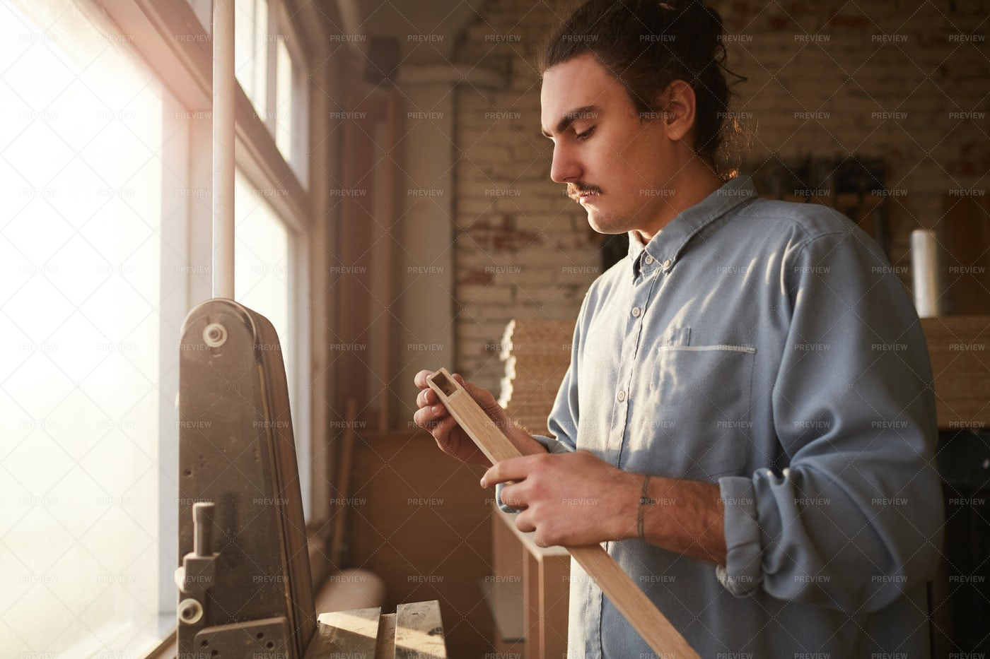 Man Working With Wood: Stock Photos