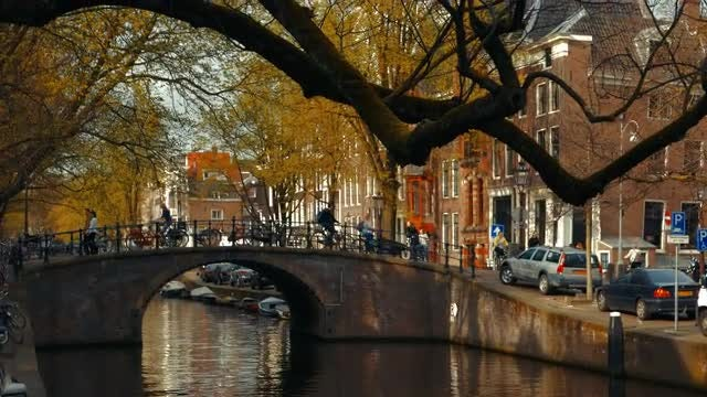 The Canals Of Amsterdam : Stock Video
