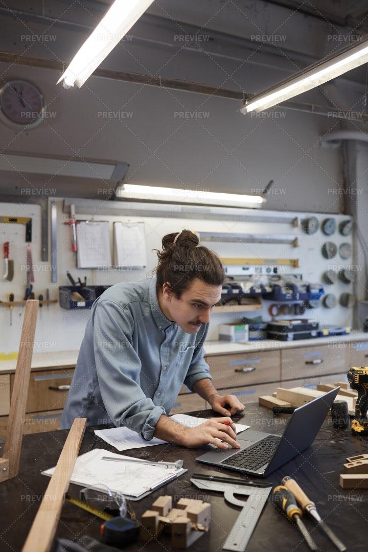 Architect Using A Laptop: Stock Photos