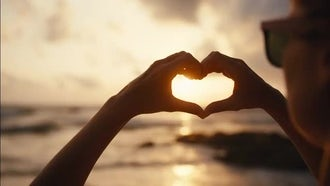 Making The Heart Shape: Stock Footage