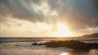 Sunset On A Tropical Island: Stock Footage