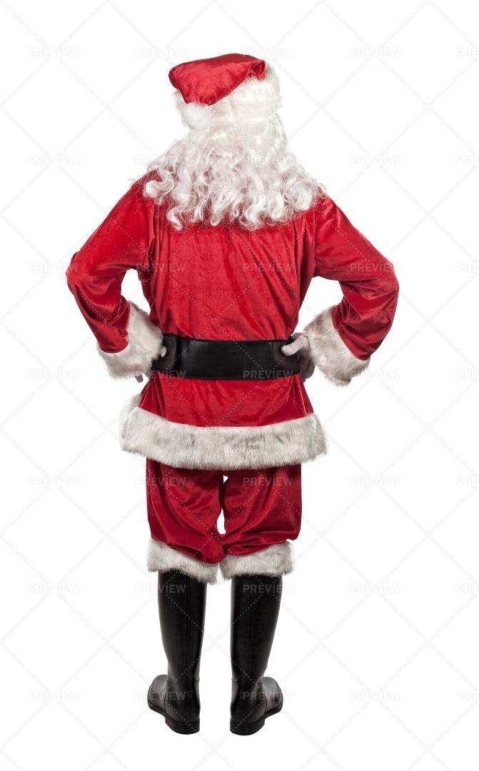 Santa Claus Portrait, Back View: Stock Photos