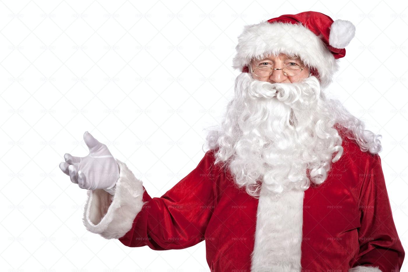 Santa Claus  On White: Stock Photos