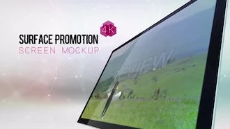 Surface Promotion Screen Mockup: After Effects Templates