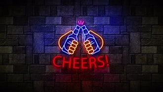 Neon Night Cheers: Motion Graphics