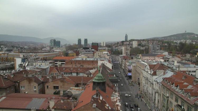 Sarajevo City Center: Stock Video