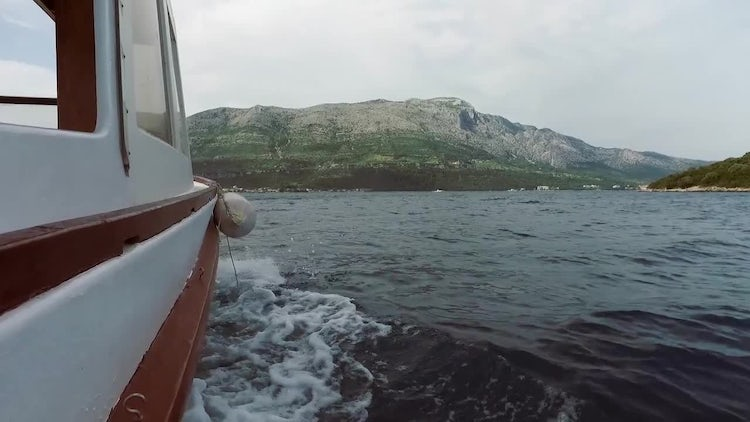 Sea View From The Boat: Stock Video