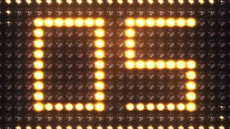 Led Countdown: Stock Motion Graphics