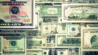 Dollars Background: Motion Graphics