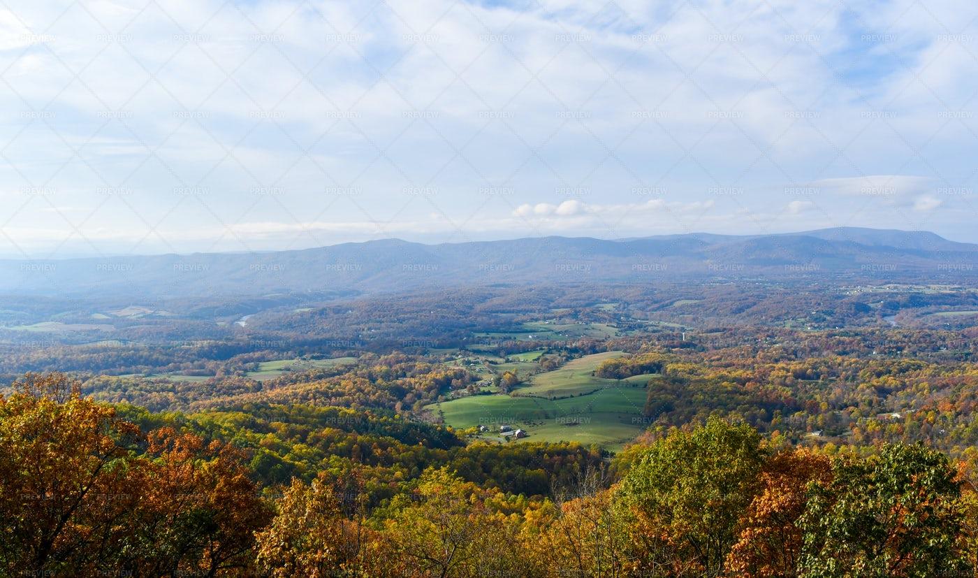 Shenandoah Valley Aerial View: Stock Photos
