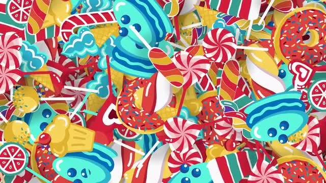 Confection Sweet Background: Stock Motion Graphics