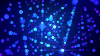 Disco LED Lights In Space: Motion Graphics