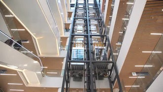 Mall Elevators Time Lapse: Stock Video