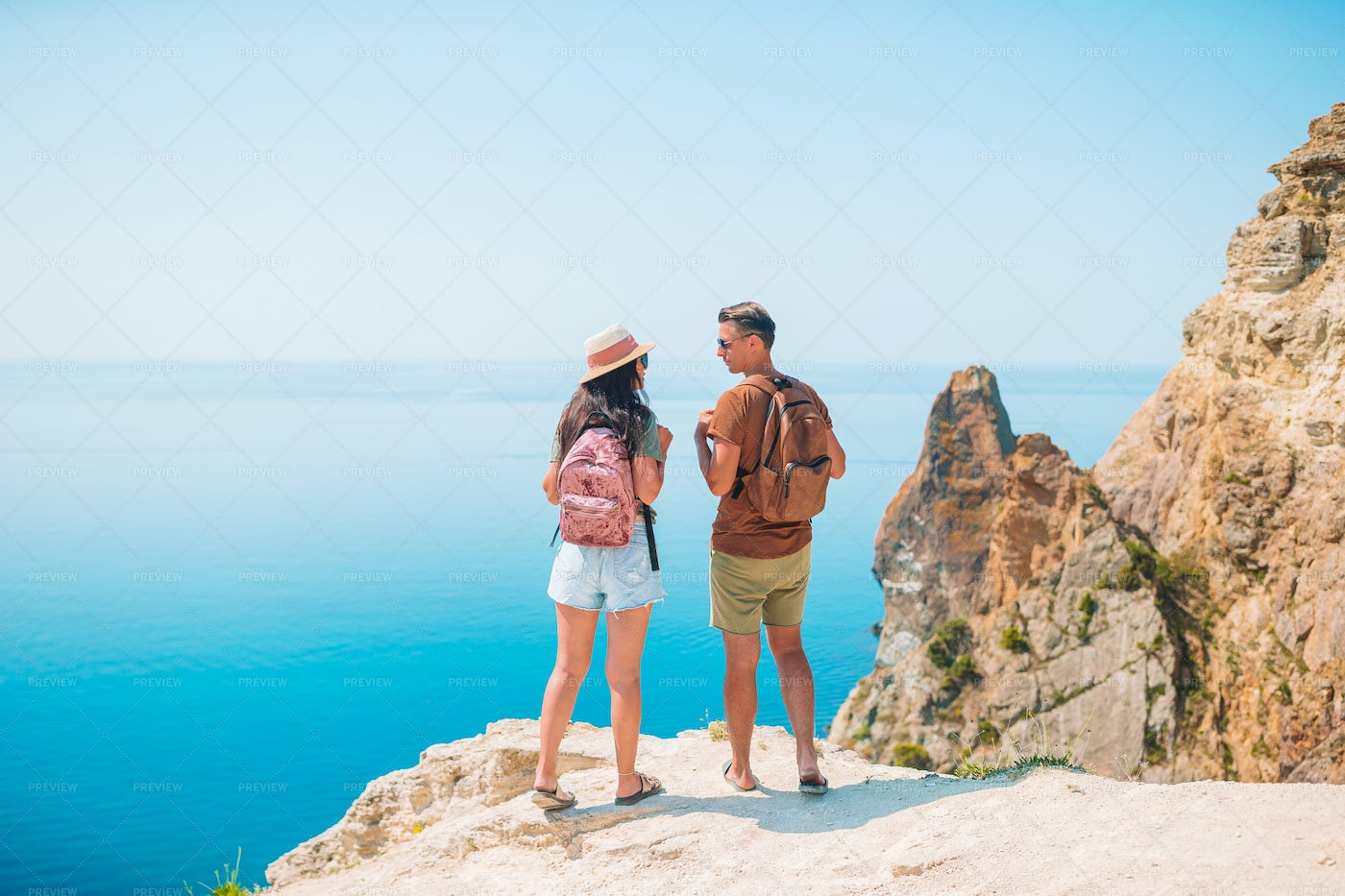At The Cliff's Edge: Stock Photos