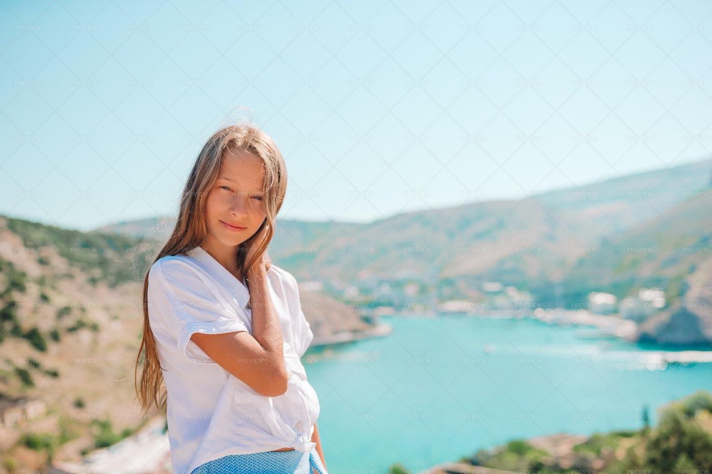Girl In The Mountains: Stock Photos