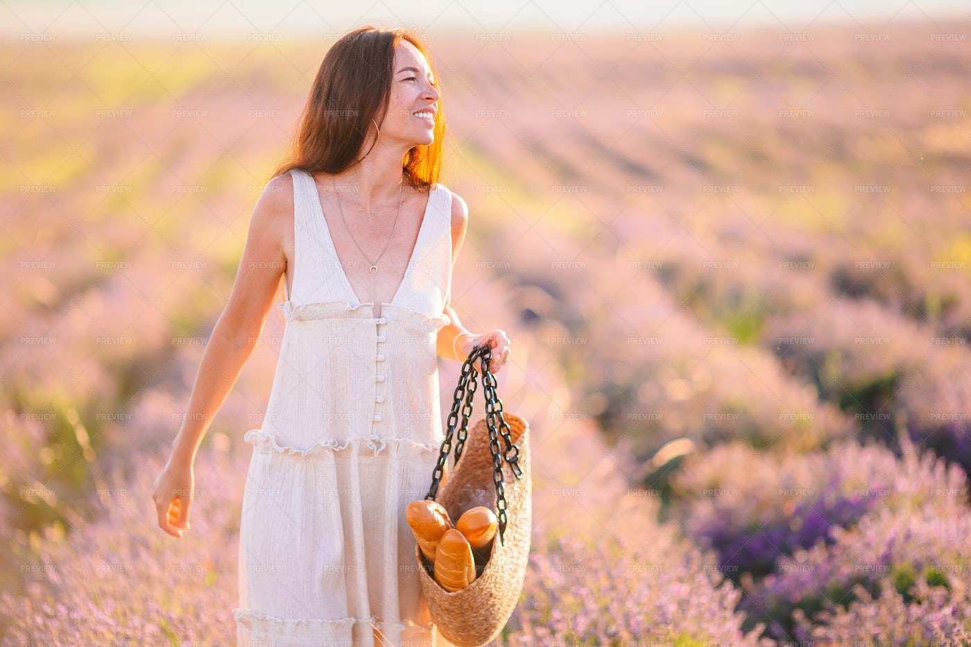 Woman In Field: Stock Photos