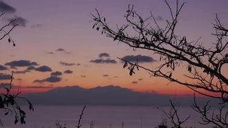 Nea Kallikratia Beach At Sunset : Stock Video