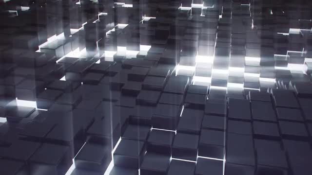 Cubes Background: Stock Motion Graphics