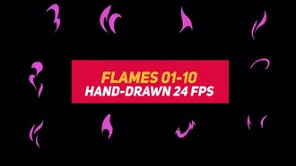 Liquid Elements 2 Flames 01-10: Stock Motion Graphics