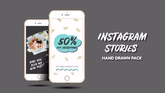 Instagram Stories Hand Drawn Pack: Premiere Pro Templates