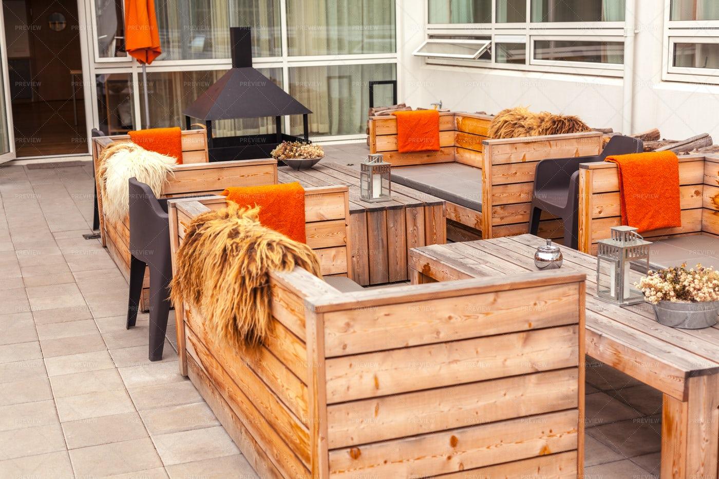 Outdoor Restaurant Terrace: Stock Photos