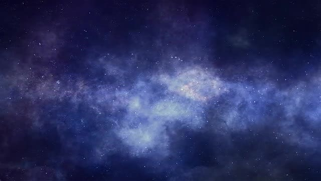 Space Nebulae Panorama: Stock Motion Graphics