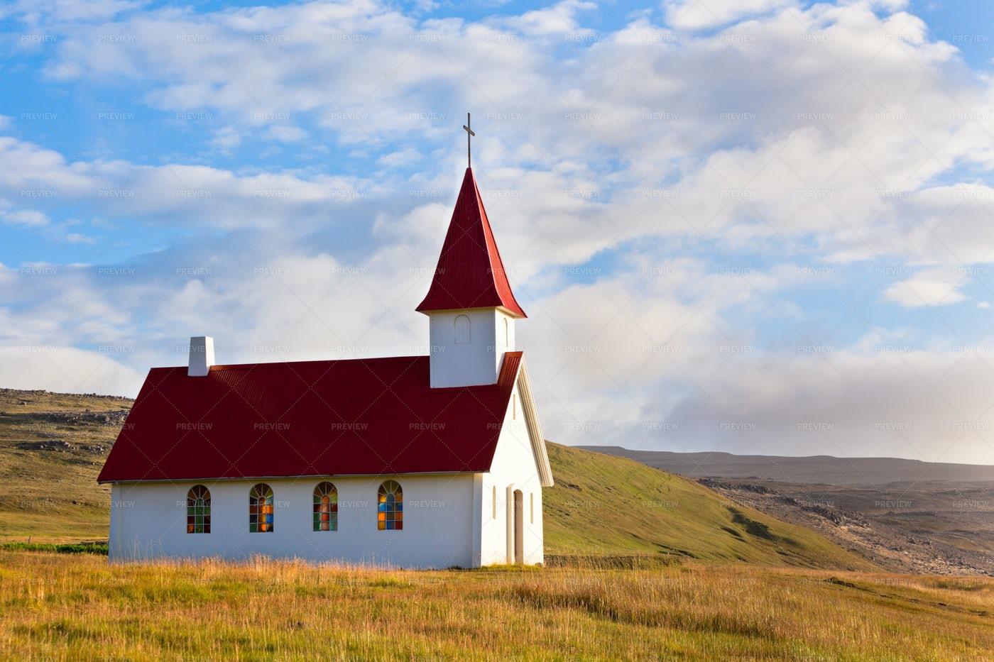 Rural Icelandic Church: Stock Photos