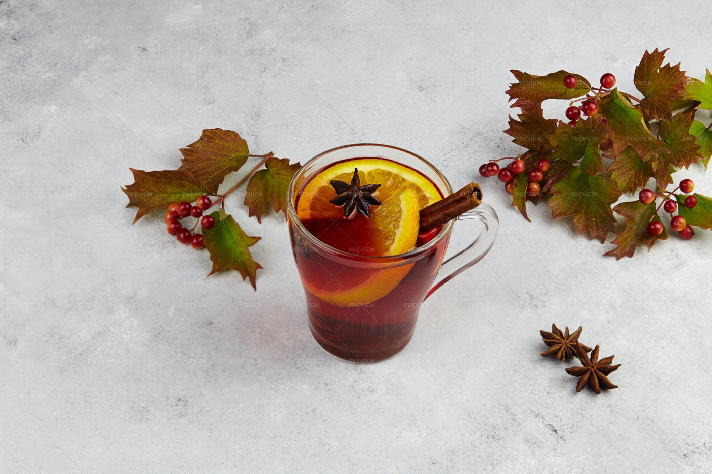 Glass Of Mulled Wine: Stock Photos