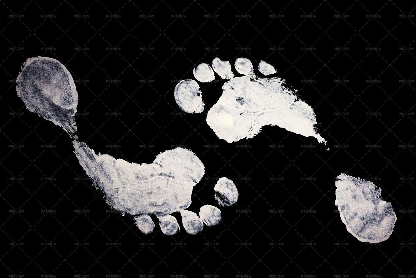 Imprint Foot: Stock Photos