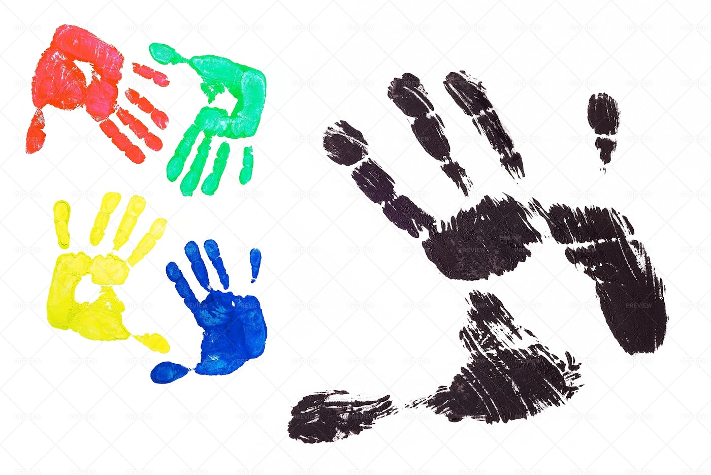 Colorful Hands: Stock Photos