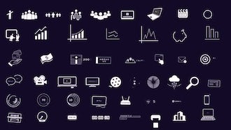 Big Data, Business Infographics Pack: Motion Graphics