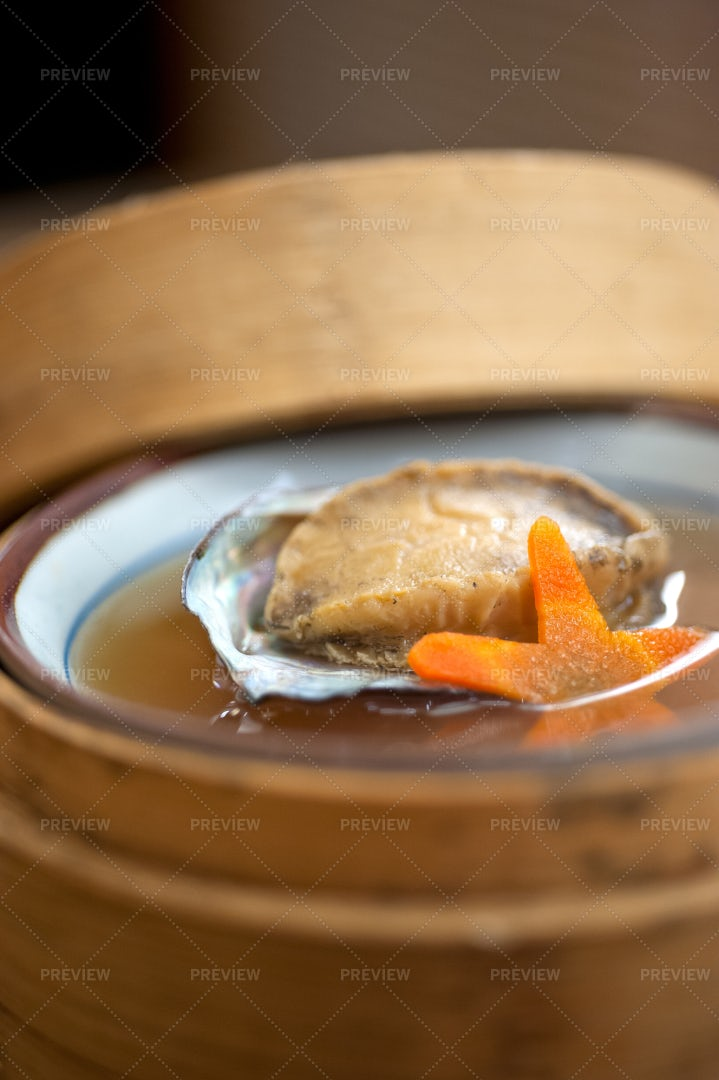 Japanese Abalone Soup: Stock Photos