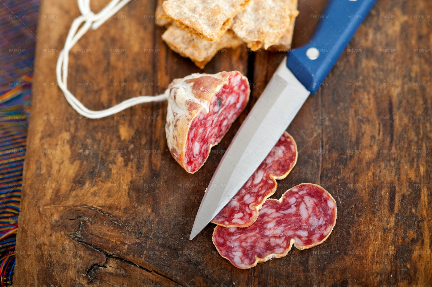 Italian Salame: Stock Photos